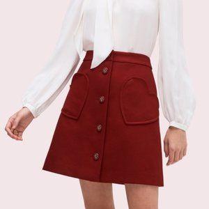 Kate Spade Heart Pocket Skirt